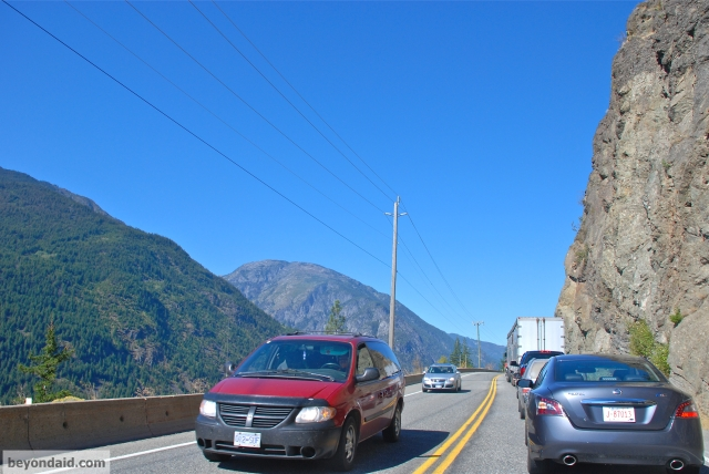 Traffic jam, Fraser Canyon, Canada